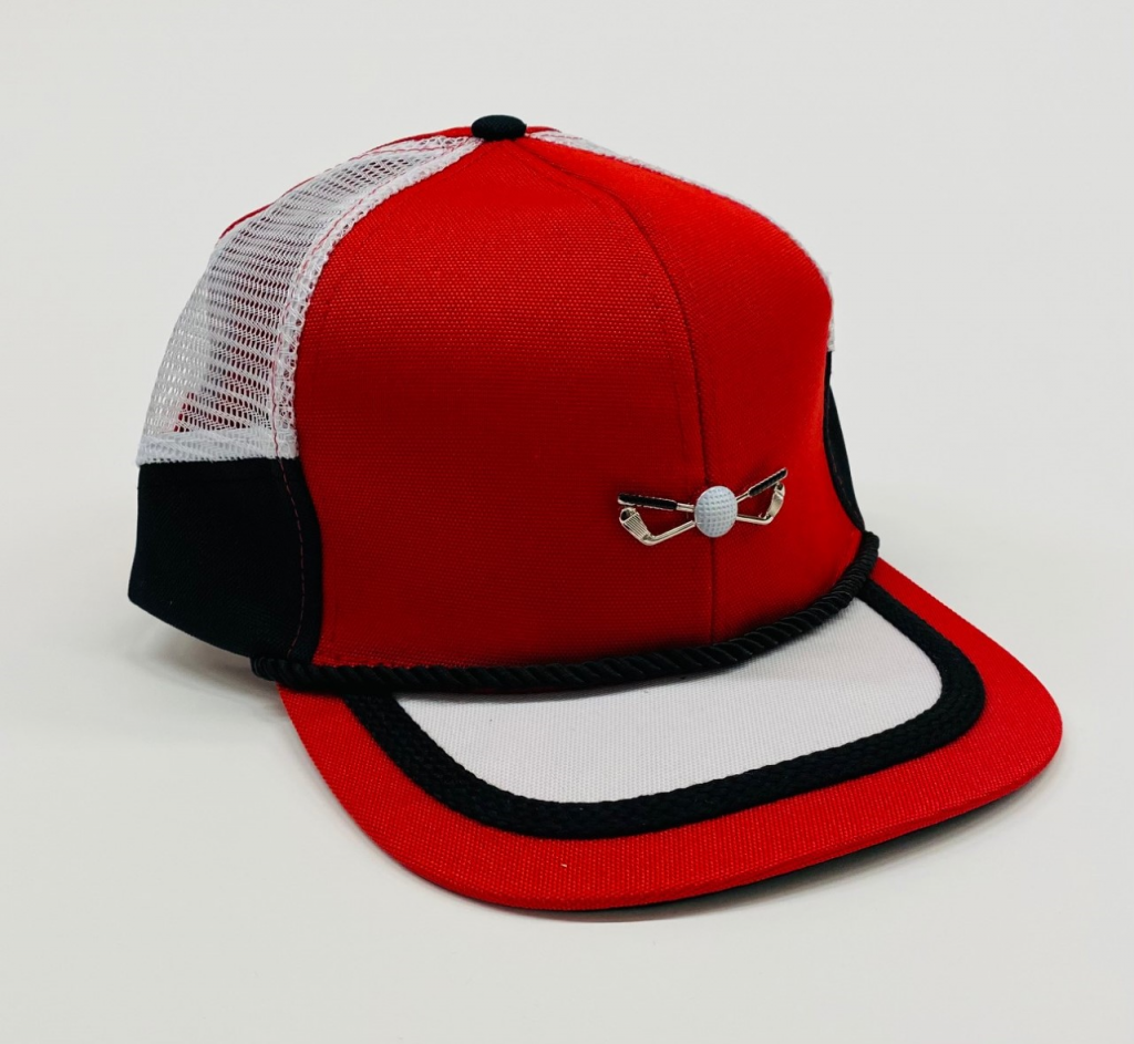 Red Black and White mesh side panel front