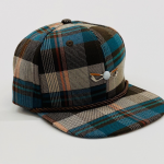 brown blue orange plaid front