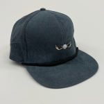 Gray and Black Corduroy Adjustable Golf Hat front