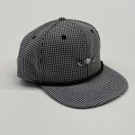 Black and White Houndstooth Black Bottom Adjustable Golf Hat
