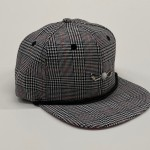 Black White and Red Plaid Red Bottom Adjustable Golf Hat