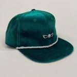 Kelly Green Velvet Adjustable Golf Hat