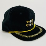 Poppin Pierre Black and Gold Golf Hat
