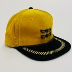 Gold and Black Poppin Pierre Velour Adjustable Golf Hat (Limited Edition)