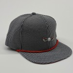 Black and White Houndstooth Red Bottom Adjustable Golf Hat (Limited Edition)