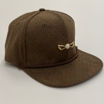 Chocolate Brown Perforated Suede Adjustable Golf hat