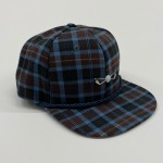 Blue and Brown Plaid Adjustable Golf Hat