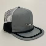 Gray Black and White Mesh Side Panel Adjustable Golf hat