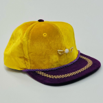 The Lake Show Gold and Purple Velour Adjustable Golf Hat
