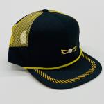 Black and Yellow Mesh Side Panel Adjustable Golf Hat